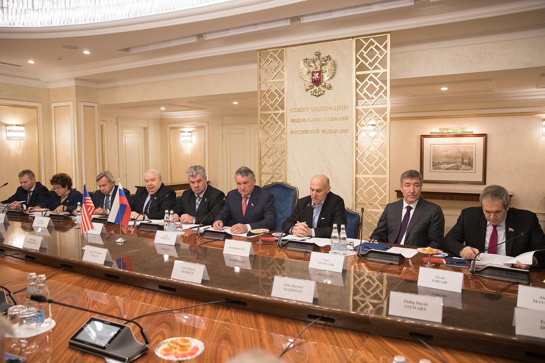 Участники «Дартмутского диалога» в Совете Федерации, 29 сентября 2017 г.