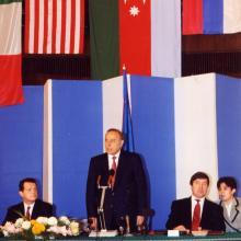 На подписании «контракта века»; Баку, сентябрь 1994 г.
