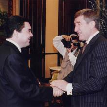 Встреча с президентом Туркменистана Гурбангулы Бердымухаммедовым; октябрь 2009 г.